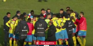 Bisceglie - Catania 0-1 - paradosso Catania